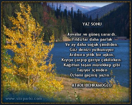 Ataol Behramoğlu Kuran şiir Insan Siz